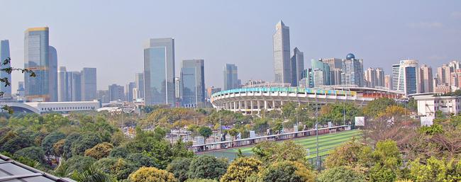 Canton, Guangzhou, est la cinquième grande ville de la Chine